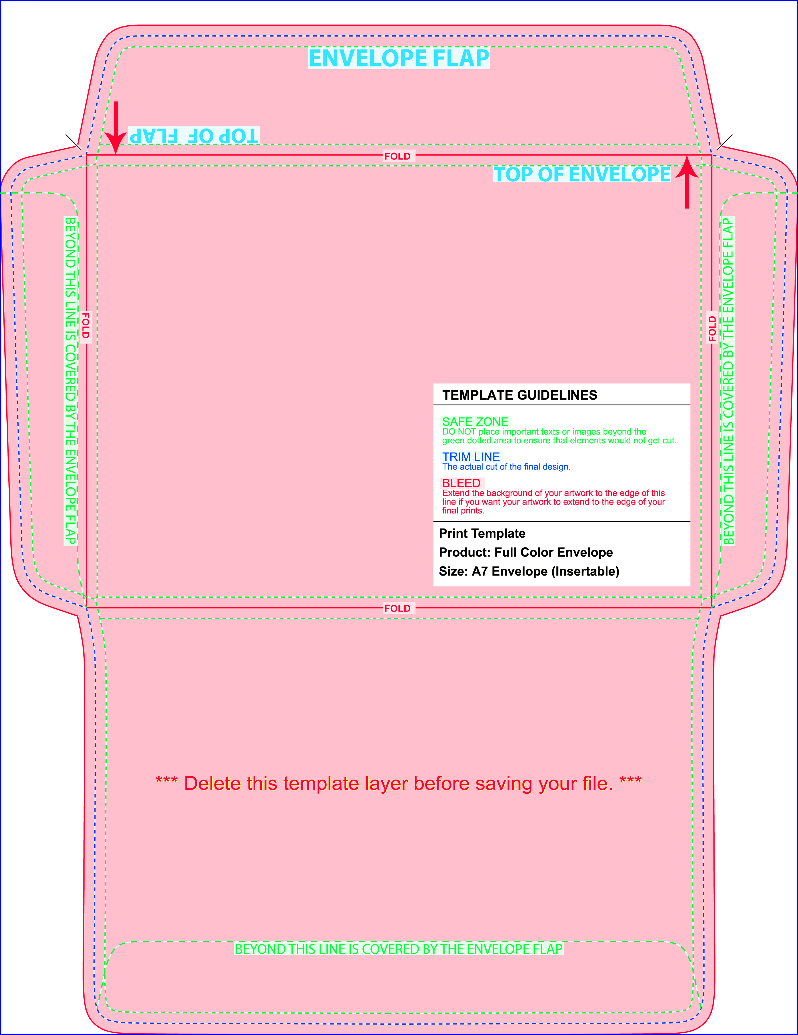 envelope template for 8 5 x 11 paper