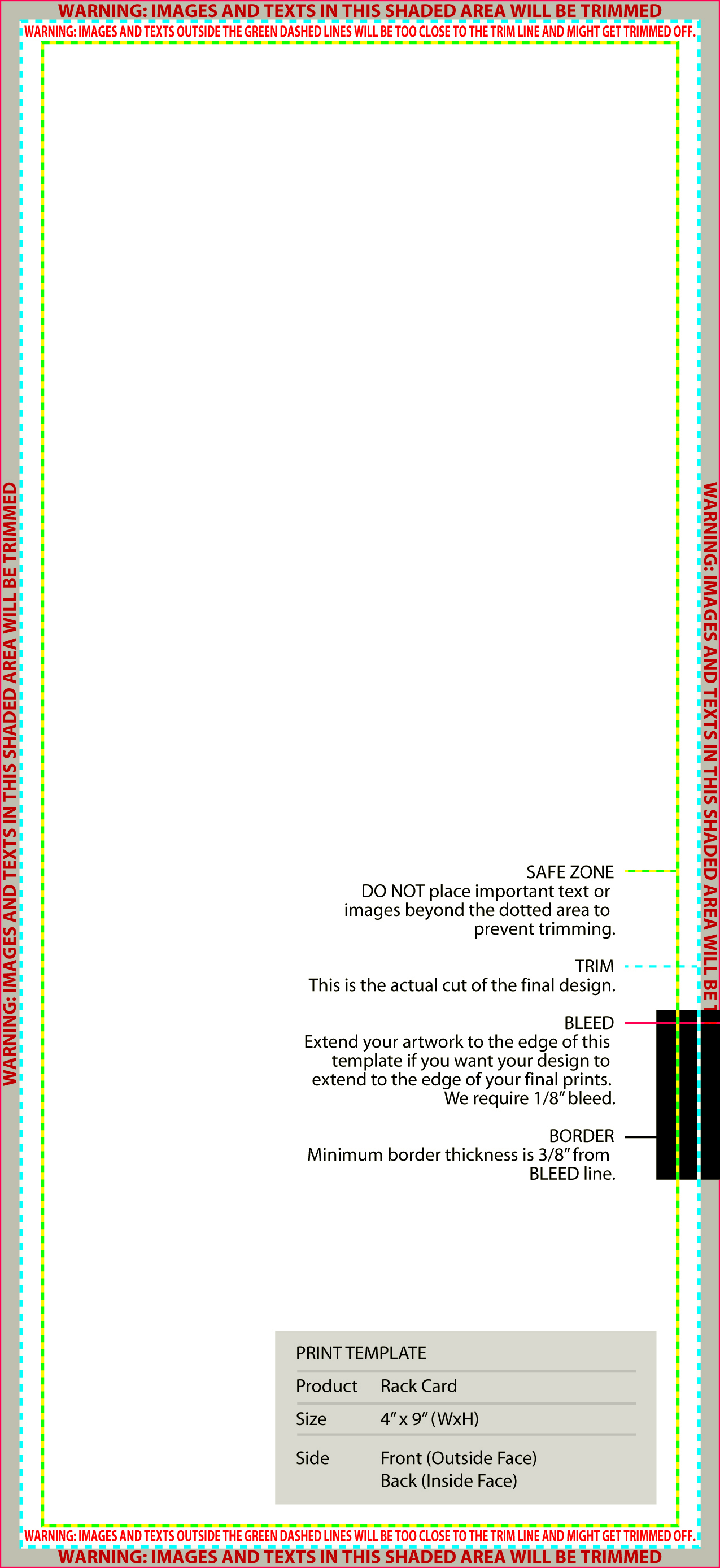 Standard Templates - Rack card template publisher